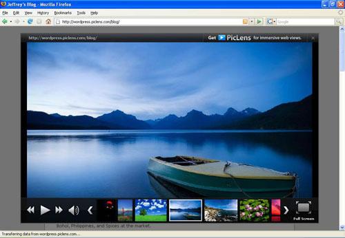 Slideshow PicLens pour WordPress