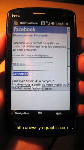 HelloTwitFace : Facebook pour mobiles