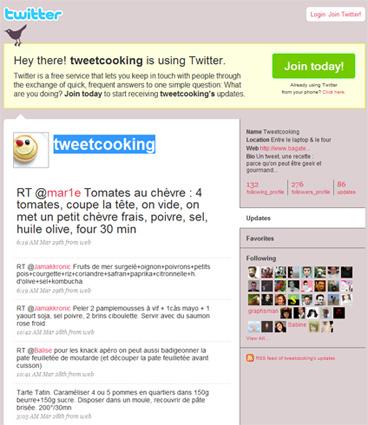 Des petites recettes du côté de chez Tweetcooking