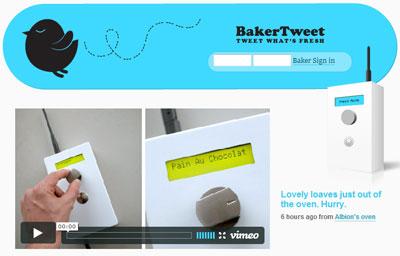BakerTweet, une boulangerie signale sur Twitter son pain chaud sorti du four