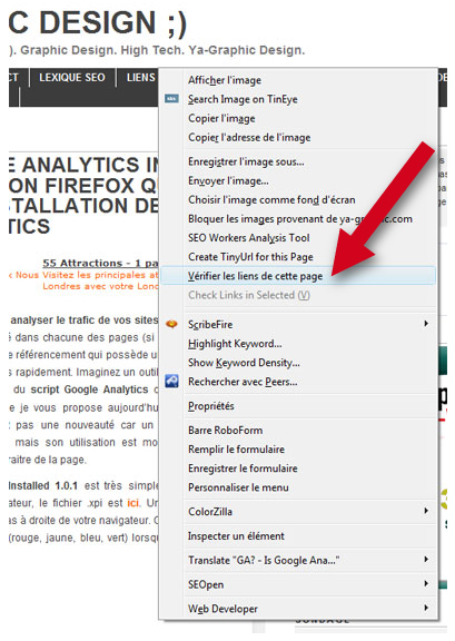 LinkChecker 0.6.3 : une extension Firefox pour vérifier la validité des liens d'une page Web