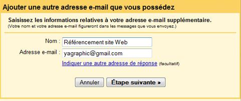 Ajoutez votre autre adresse e-mail Gmail