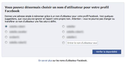 Choisir un nom d'utilisateur pour votre profil Facebook