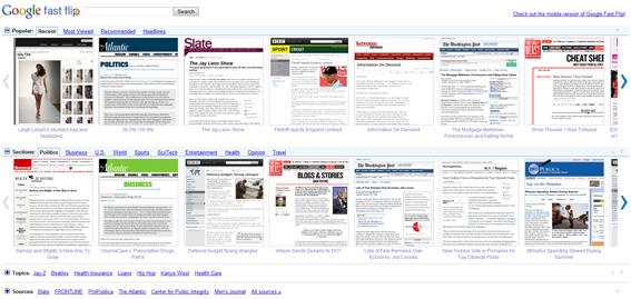 Google Fast Flip, une nouvelle façon de voir l'actualité !