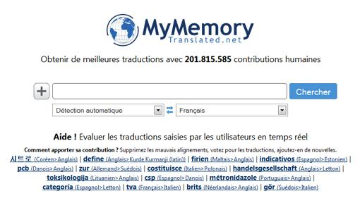 Moteur de recherche MyMemory