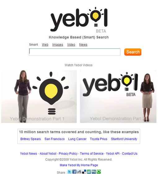 Moteur de recherche Yebol