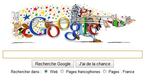 Google France fête les 50 ans d'Astérix et Obélix