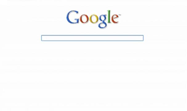 Observez le minimalisme de Google.
