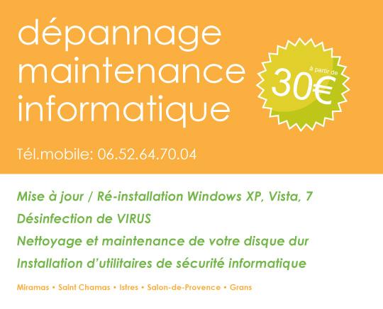 Dépannage informatique à Miramas, Salon-de-Provence, Istres ...
