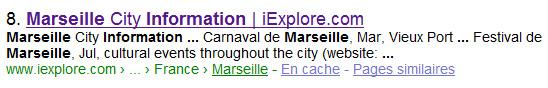 Requête tapée dans Google : « marseille information »