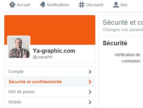Sécurité et confidentialité Twitter