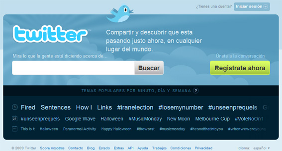Twitter officiellement disponible en version espagnole !