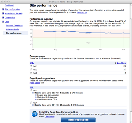 Mesurer la vitesse de chargement de votre site avec Google Webmaster Tools