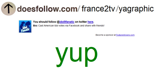 doesfollow.com - twitter france2tv