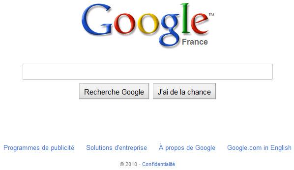 Ancien design de Google