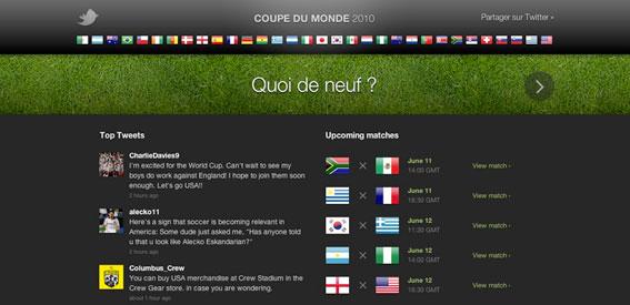 La Coupe du Monde sur Twitter