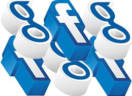 Facebook contre Google me - réseau social