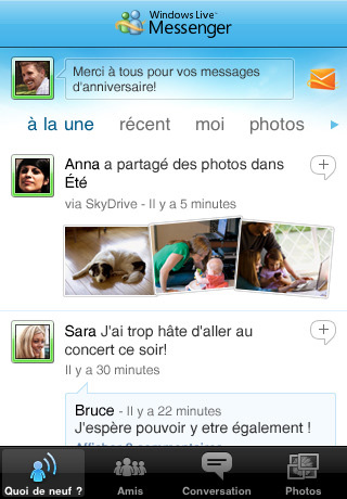 Windows Live Messenger version officielle pour iPhone et iPod Touch