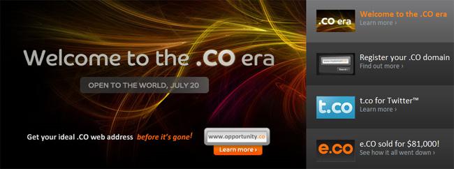 extension colombienne nom de domaine .co