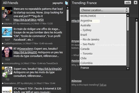 Les tendances sur Twitter, pour la France
