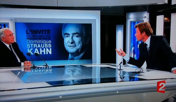 Dominique Strauss-Kahn et Laurent Delahousse sur France 2