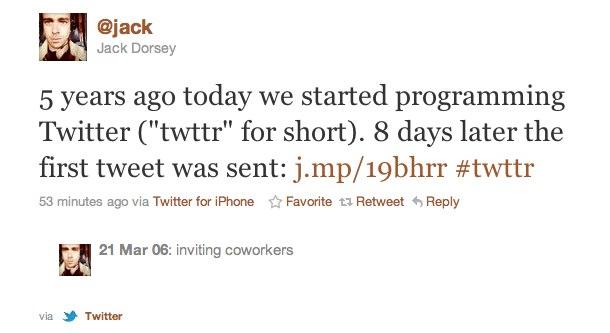 Les origines de Twitter, par Jack Dorsey