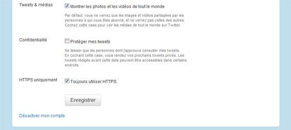 Connexion HTTPS pour Twitter