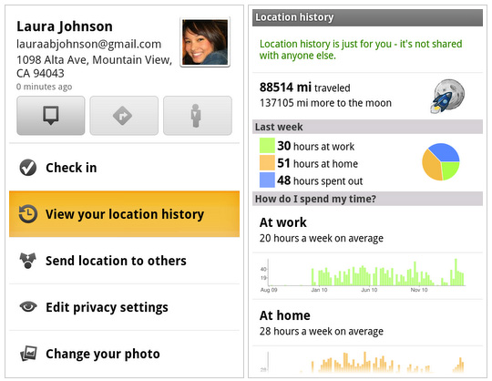 Voir l'historique de vos déplacements via Google Maps 5.3 pour Android