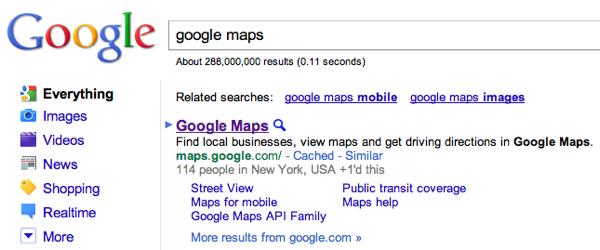 Affichage des +1 dans les résultats de recherche de Google.