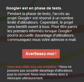 Le projet Google+ ferme les invitations