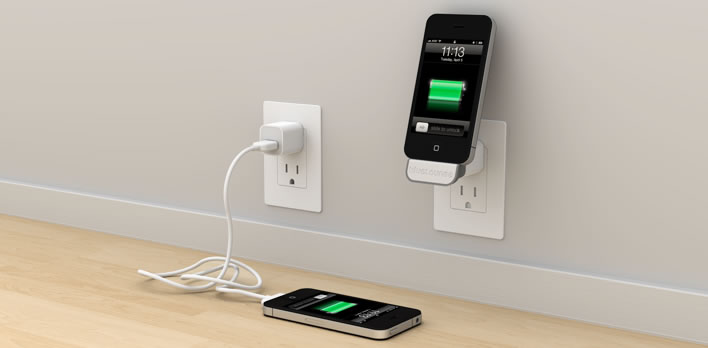 minidock chargeur mural sans fil pour iphone et ipod ya. Black Bedroom Furniture Sets. Home Design Ideas