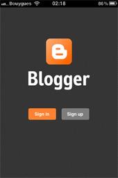 Blogger pour iOs