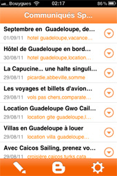 Blogger pour iPhone