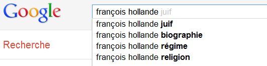 François Hollande - Suggestions de Google