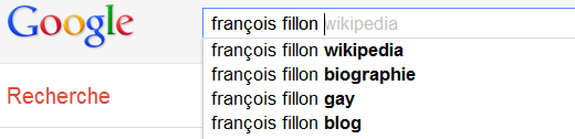 Franois Fillon - Recherche Google suggestions