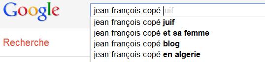Jean-François Copé - Recherche Google Suggest