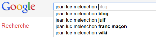 Jean Luc Mlenchon - Suggestions Google