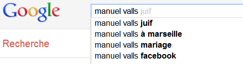 Manuel Valls - Suggestions Google