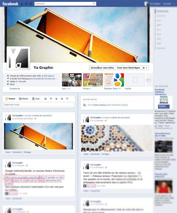 Le nouveau Facebook : j'affiche ma nouvelle timeline
