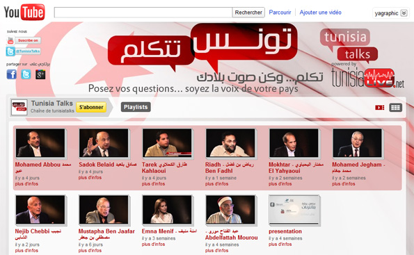 Chaîne YouTube, Tunisia Talks