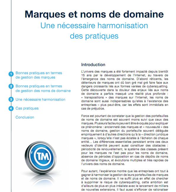 AFNIC: marques et noms de domaine