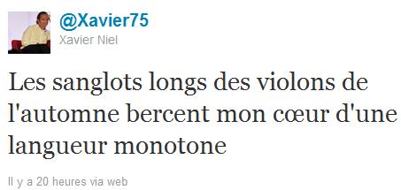 """Xavier Niel: """"Les sanglots longs des violons de l'automne bercent mon coeur d'une langueur monotone"""""""