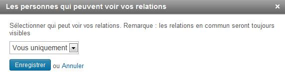 Relations LinkedIn : vous uniquement ou vos relations.