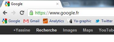 Protocole SSL chez Google.fr