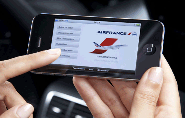 Air France: La presse digitale offerte aux voyageurs courant 2013