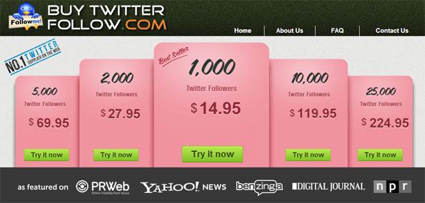 Twitter: Acheter des followers