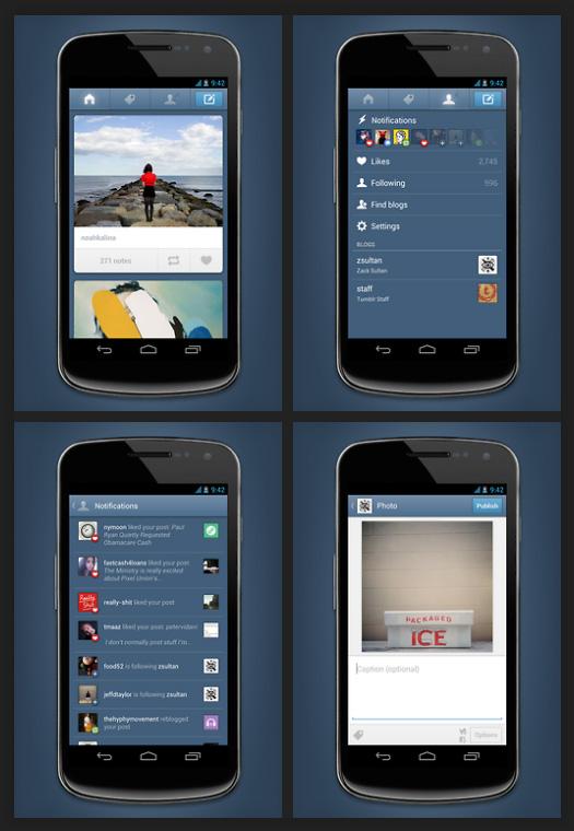 Améliorations application mobile Tumblr pour Android