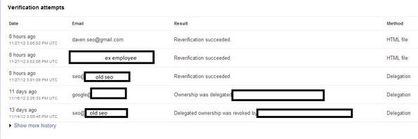 Bug de Google Webmaster Tools, vérifiez les accès à votre compte...