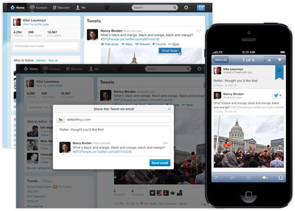 Twitter: Le partage de tweets par email. Utile ou futile ?