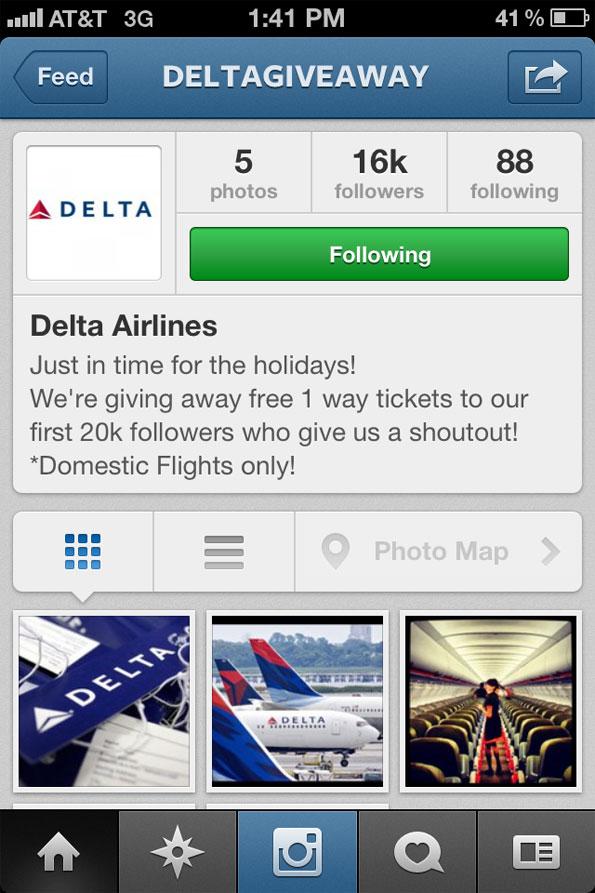 SCAM sur Instagram: Des compagnies aériennes « imitées »